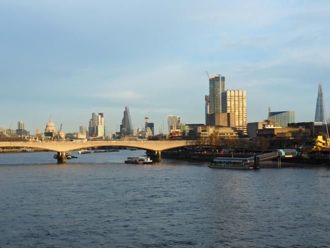 London City View Southbank South Bank Waterloo River Thames