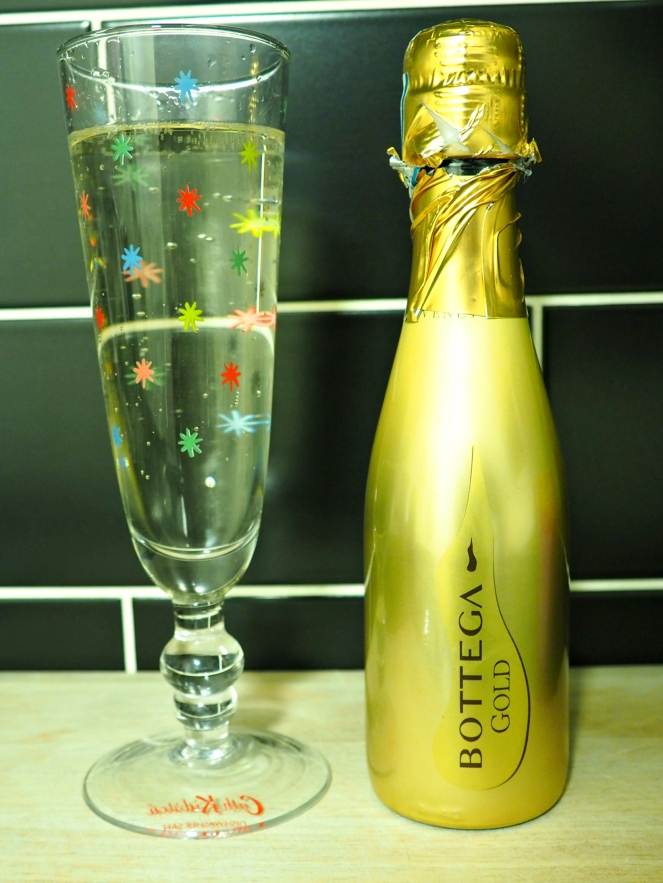 Celebratory Mini Prosecco Bottle Alcohol Drink