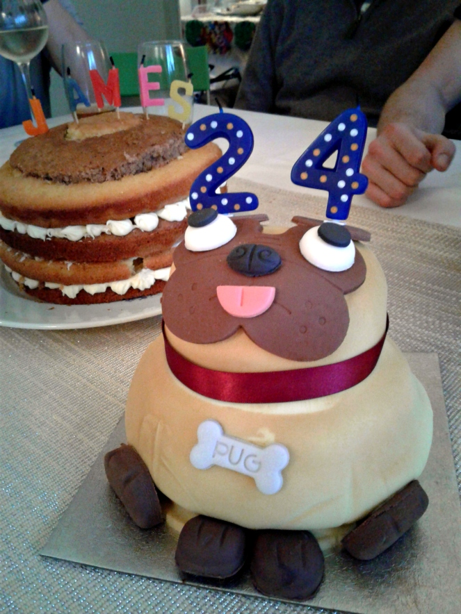 Boyfriend Birthday Cakes Pabs the Pug Sponge Cake Food Blog Blogger