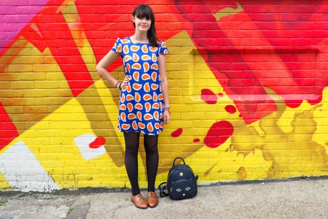 Shoredtich East London ootd outfit Colourful Wall Street Art Fashion Blog Blogger