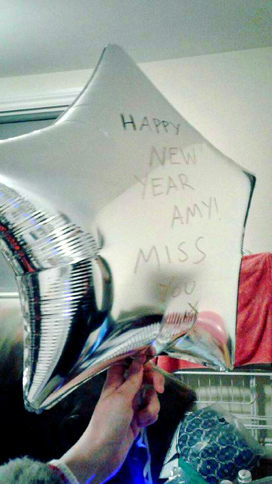 Happy New Year Amazing Amy Silver Star Balloon