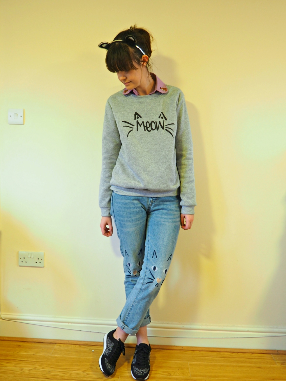 Crazy Cat Lady Outfit of the Day Fashion Blog Blogger