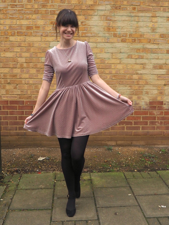 Cursed Child Velvet Dress OOTD Outfit of the Day London Fashion Blog Blogger