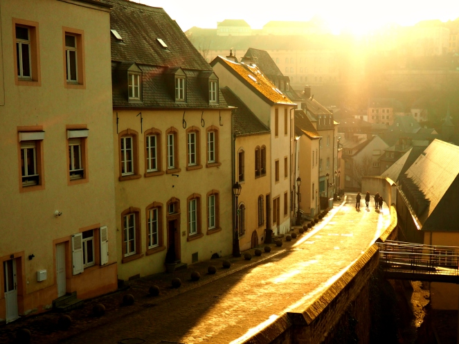 Luxembourg Grund Sunset Old Town Valley Travel Blog Blogger