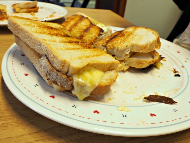 Toastie Tuesday in the Expat Explore Office London Food Blog Blogger